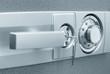 Leinwanddruck Bild - Safe with combination lock
