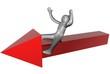 3d freccia rossa
