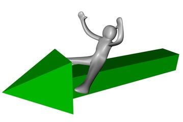 3d freccia verde
