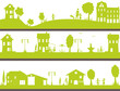 life in a city green with child and adult