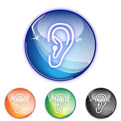 Picto entendre oreille - Icon ear - collection color