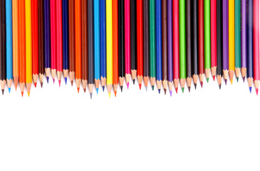 color pencil isolated on white.