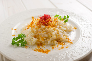 rice with saffron and curry