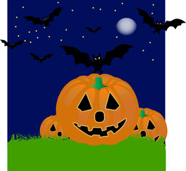 pumpkins on haloween