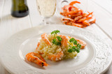 rice with shrimp - risotto con gamberi
