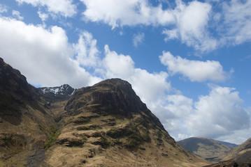 View of mountain range above Scotch mountain