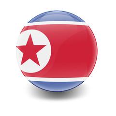 Esfera brillante con bandera Corea del Norte