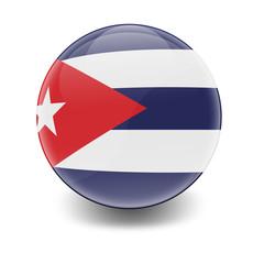 Esfera brillante con bandera Cuba