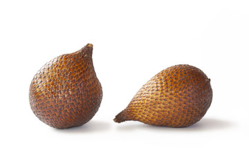 Two pieces of snake fruit