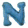 вязание крючком и кожа