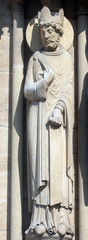 King, Notre Dame Cathedral, Paris, Portal of St. Anne