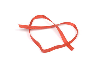 red tape in the form of heart