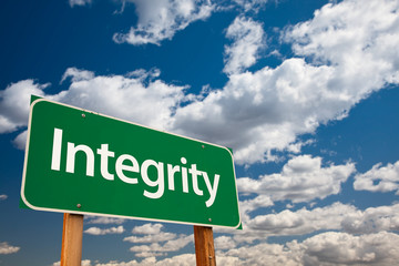 Integrity Green Road Sign