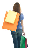 beauty shopping woman with clored bags