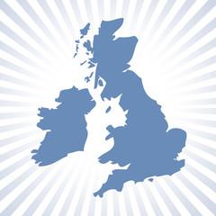 UK map with circular stripes