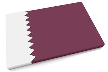 3D Qatar Flag Button