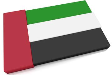 3D United Arab Emirates Flag Button