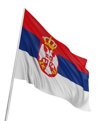 3D Serbian flag
