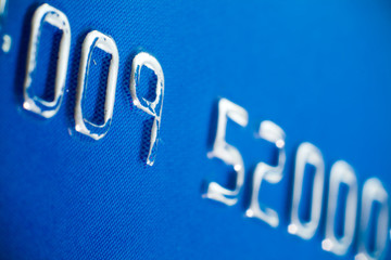Credit card embossing