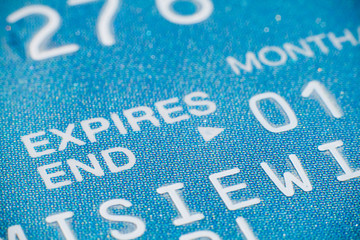 Close-up of a credit card