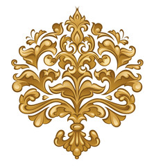 Baroque floral ornament