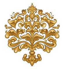 Baroque floral ornament