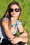 fashion girl wearing sunglasses
