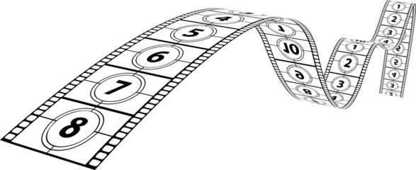 Film Filmstreifen Zahlen