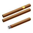 Cuban cigars. Vector illustration.