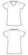 camiseta mujer manga ranglan blanca