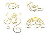 Fototapety Christliche Symbole für Kinder (z.B. Erstkommunion, etc.)