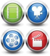 Video. Vector button