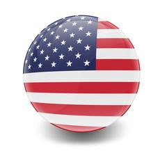Esfera brillante con bandera Estados Unidos