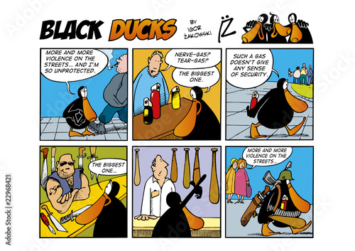 Keuken foto achterwand Comics Black Ducks Comic Strip episode 43