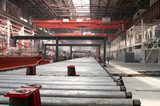 Cold rolling department in ferrous metallurgy factory poster