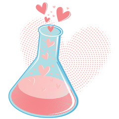 Vector Chemistry of Love Concept or Love Potion