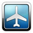 """Glossy Square Icon """"Airplane / Airport"""""""