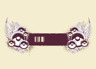Grunge musical banner