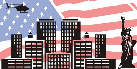 American Dreams - vector illustration