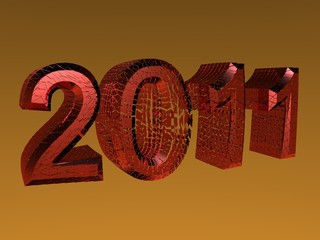 3D rendered 2011 new year logo