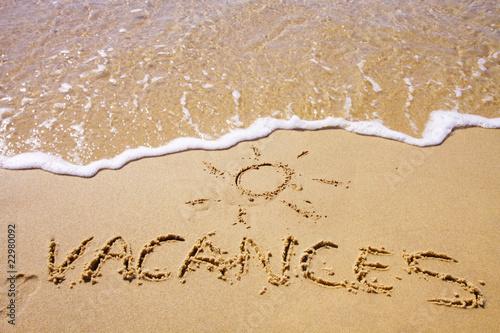 Leinwanddruck Bild vacances au soleil
