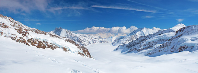 Panoramic view from the top of Jungfrau