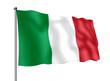 Leinwanddruck Bild - Italien-Flagge