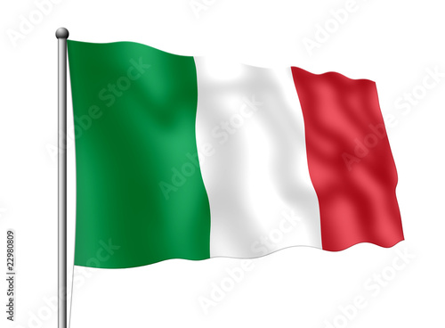 Leinwanddruck Bild Italien-Flagge