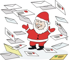 Christmas postal mail cartoon