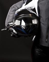 Helmet in hands