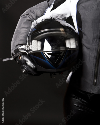Helmet in hands