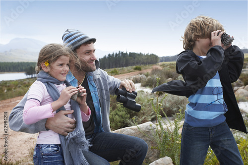 Dad with his kids