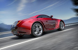Sports car on the road