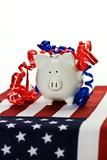 Patriotic piggy bank